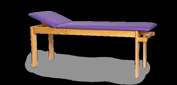 Drewniany(buk) stół rehabilitacyjny SR-F do fizykoterapii z regulowanym zagłówkiem